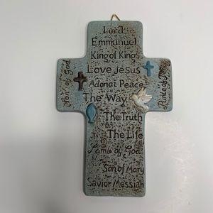 Other - Faith Quotes on Cross Porcelain Wall Decor